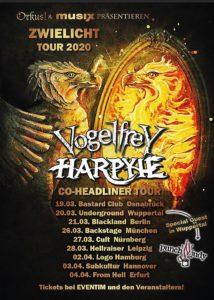 """Harpyie + Vogelfrey """"Zwielicht-Tour"""" - verschoben aus 2020 @ UNDERGROUND Event-Floor"""